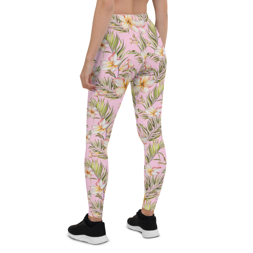 Exotic Plumeria Leggings