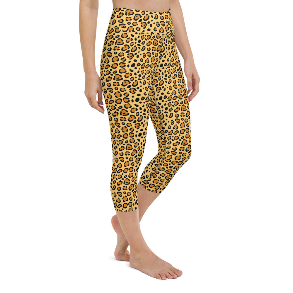 Leopard Spots Yoga Capri Leggings