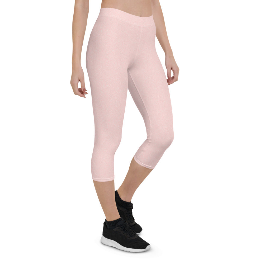 Pink Bubble Capri Leggings