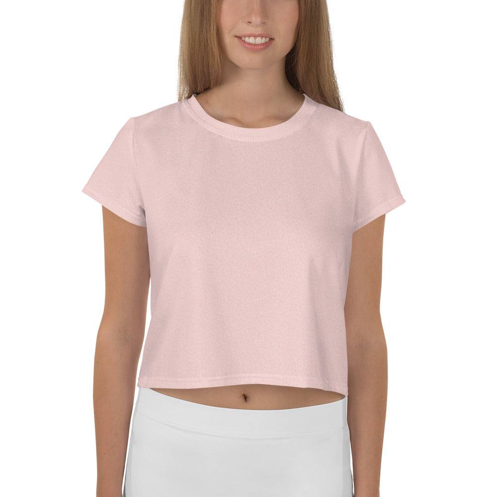 Pink Bubble Crop Tee