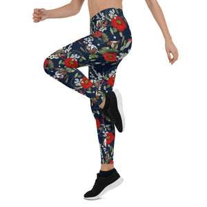 Modern Botanical Leggings