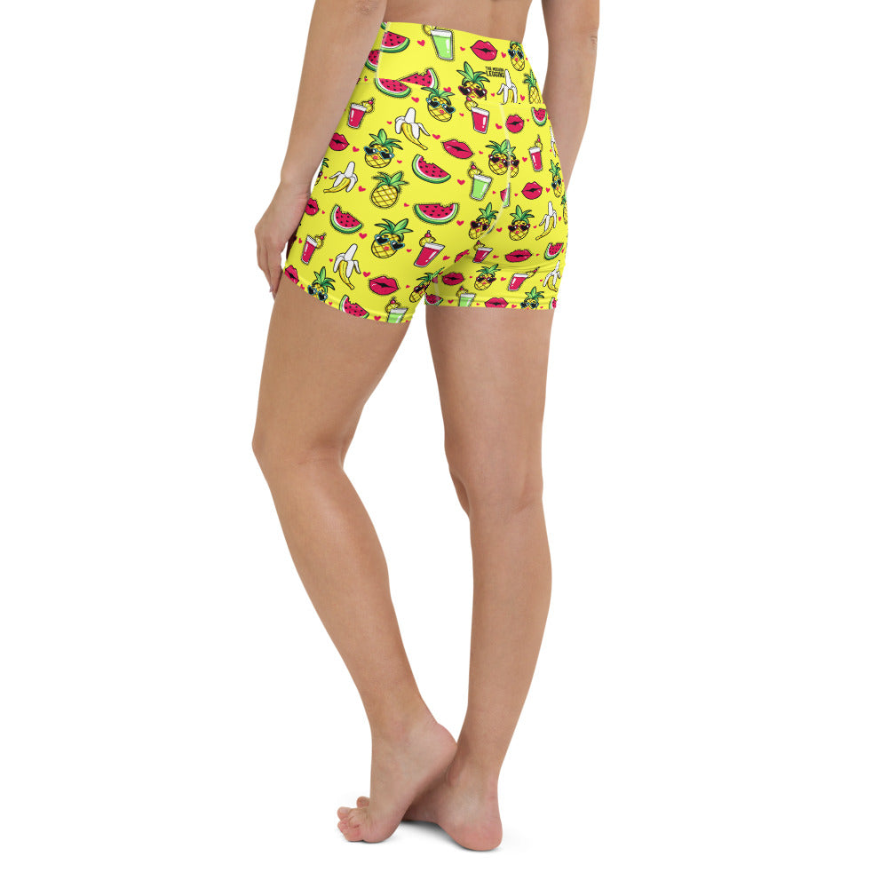 Tropic Comic Yoga Shorts