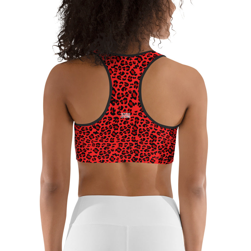 Red Leopard Sports bra
