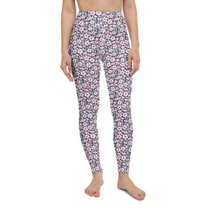 Cute Floral Yoga Leggings