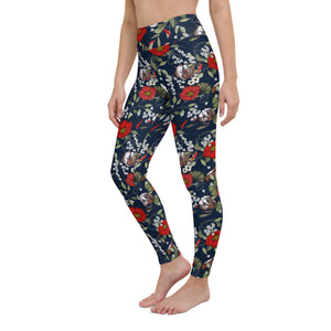 Modern Botanical Yoga Leggings