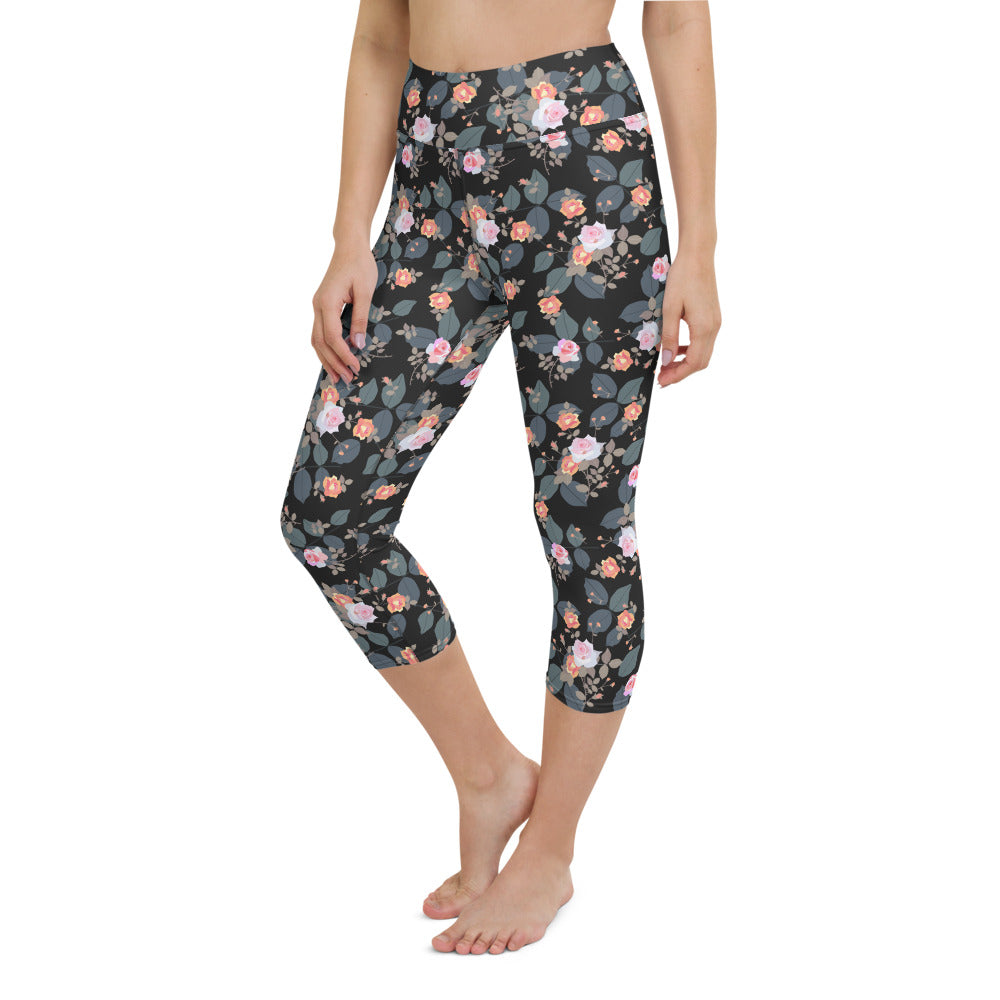 Small Bouquets Yoga Capri Leggings