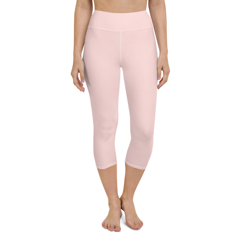 Pink Bubble Yoga Capri Leggings