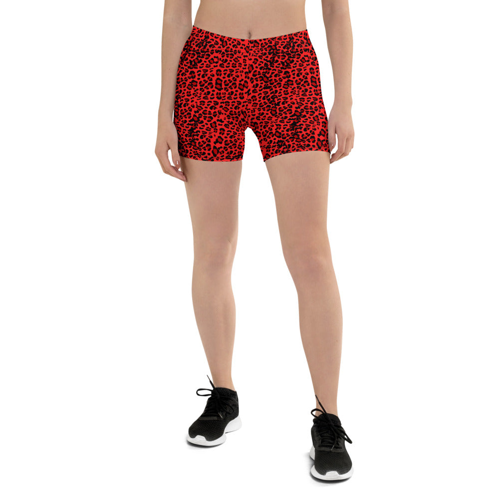 Red Leopard Shorts