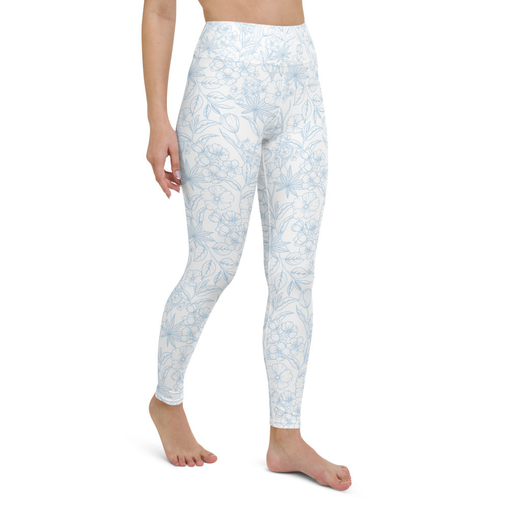 Light Floral Yoga Leggings