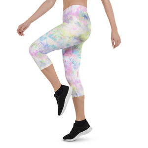 Rainbow Wheel Tie Dye Capri Leggings