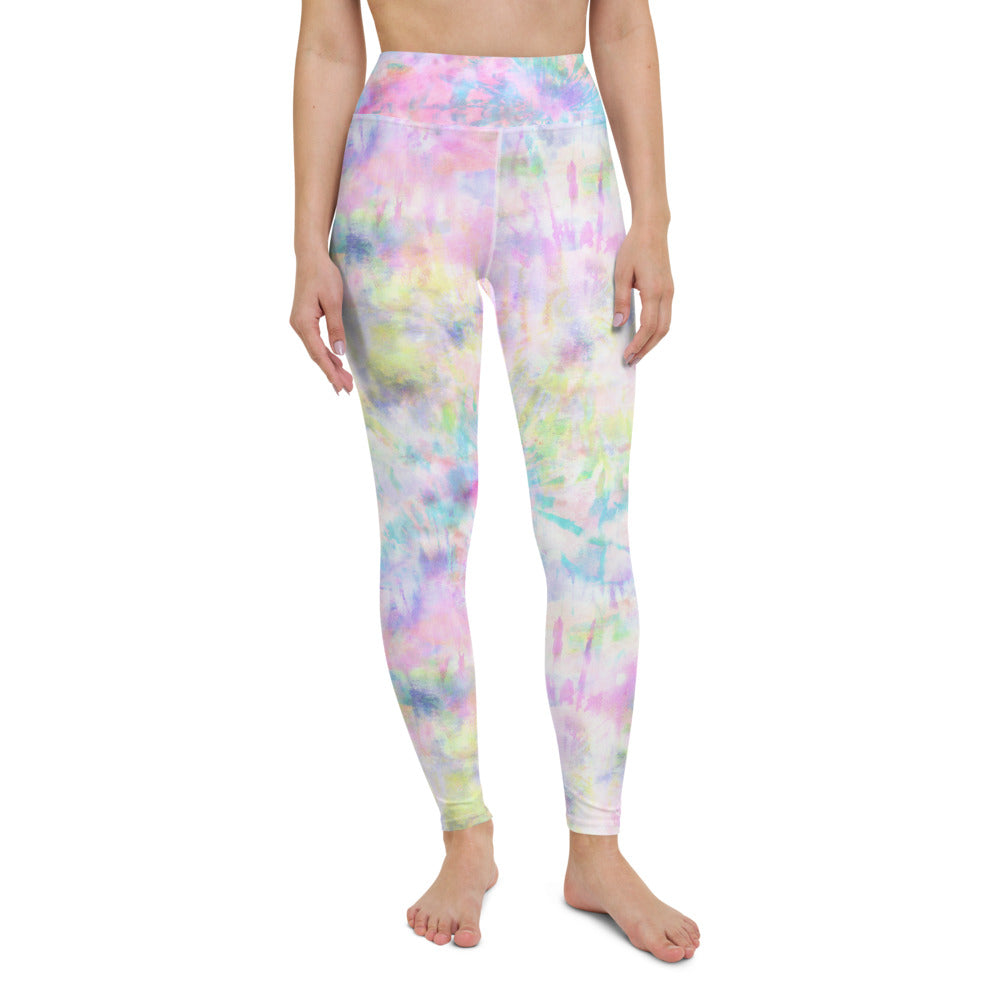Rainbow Wheel Tie Dye Yoga Leggings