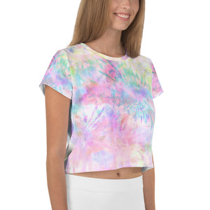 Rainbow Wheel Tie Dye Crop Tee