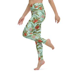 Tropical Watercolor Yoga Leggings