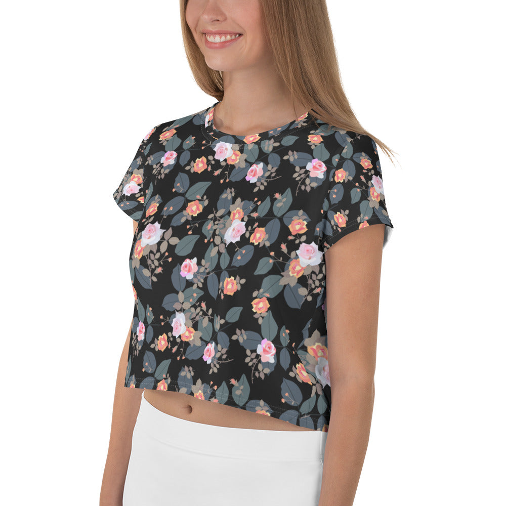 Small Bouquets Crop Tee