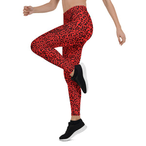 Red Leopard Leggings