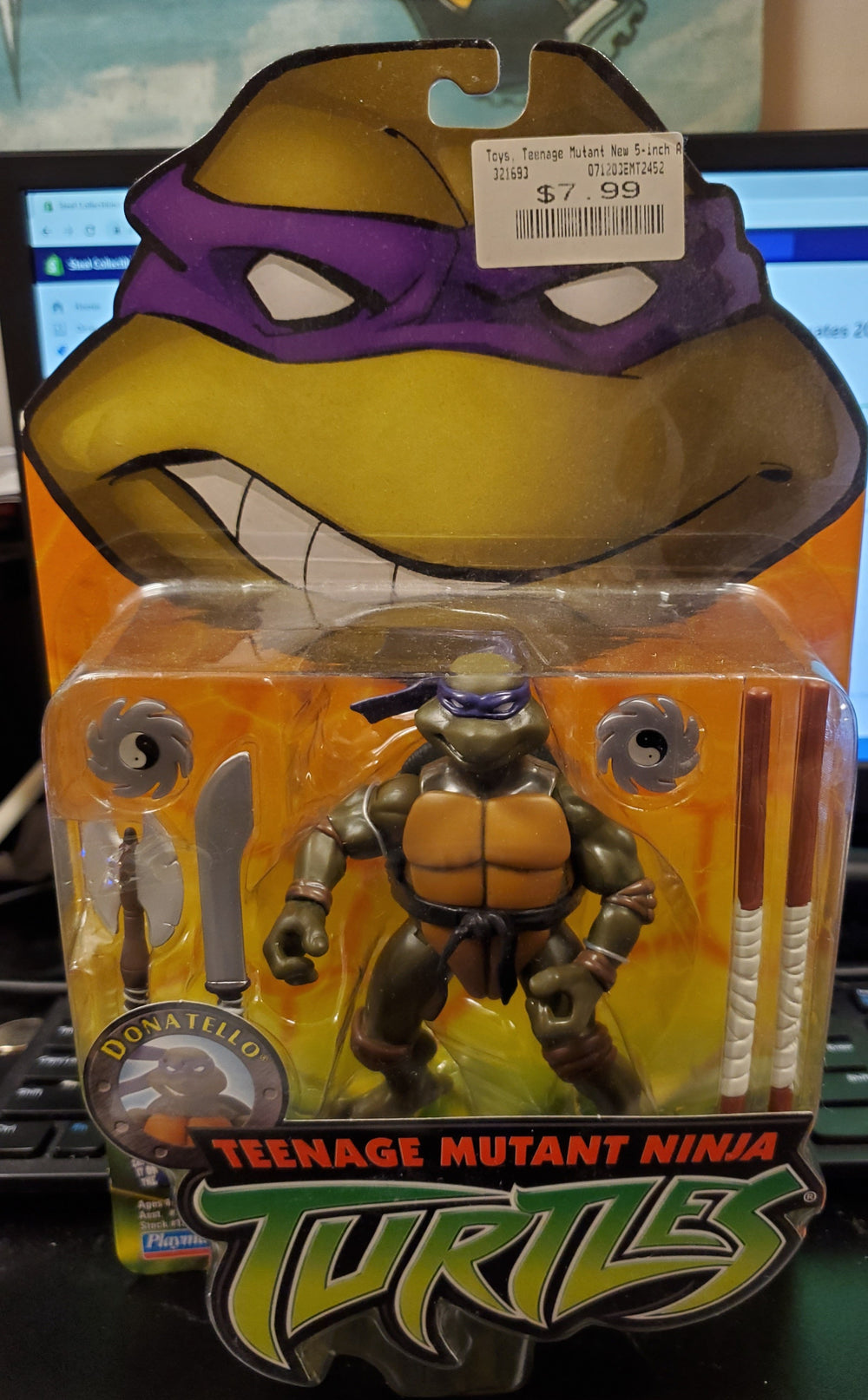 TMNT Teenage Mutant Ninja Turtles DONATELLO Playmates 2003 SEALED