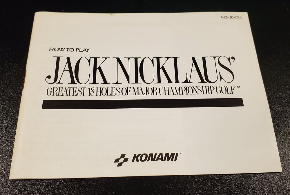 NES Manuals - Jack Nicklaus' Greatest 18 Holes of Major Championship Golf