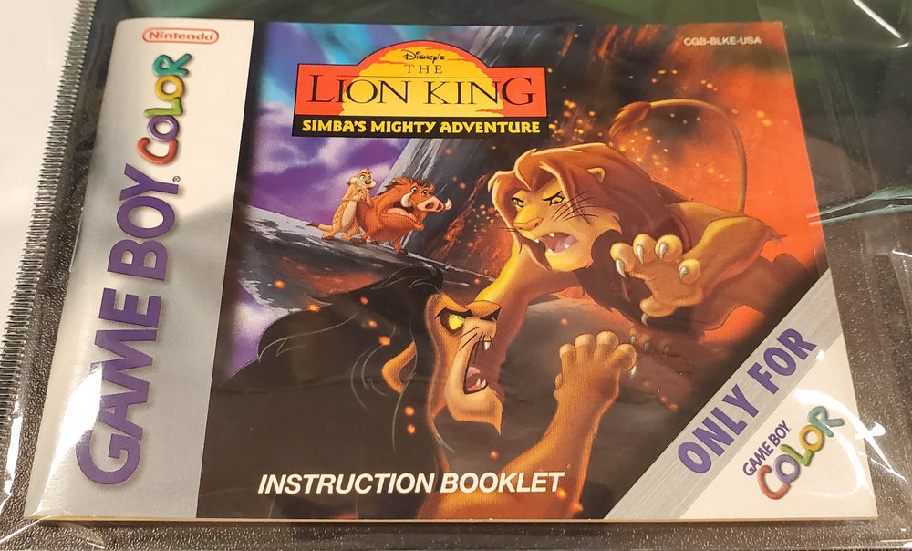 GBC Manuals - The Lion King: Simba's Mighty Adventure