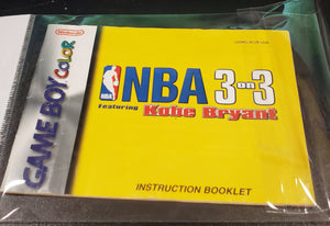 GBC Manuals - NBA 3 on 3 featuring Kobe Bryant