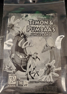 SNES Manuals - Disney's Timon & Pumbaa's Jungle Games