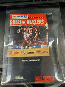 SNES Manuals - Bulls Vs. Blazers and the NBA Playoffs