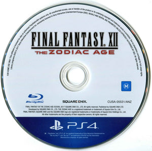 PS4 - Final Fantasy XII: The Zodiac Age