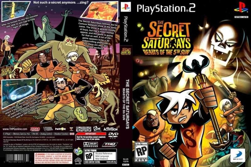 Playstation 2 - The Secret Saturdays Beast of the 5th Sun