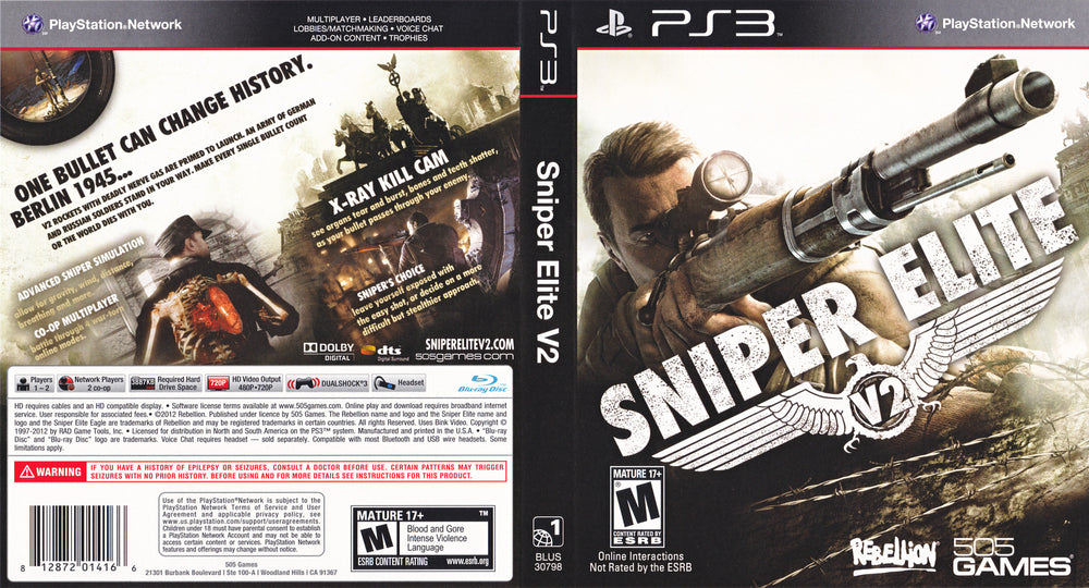 Playstation 3 - Sniper Elite V2