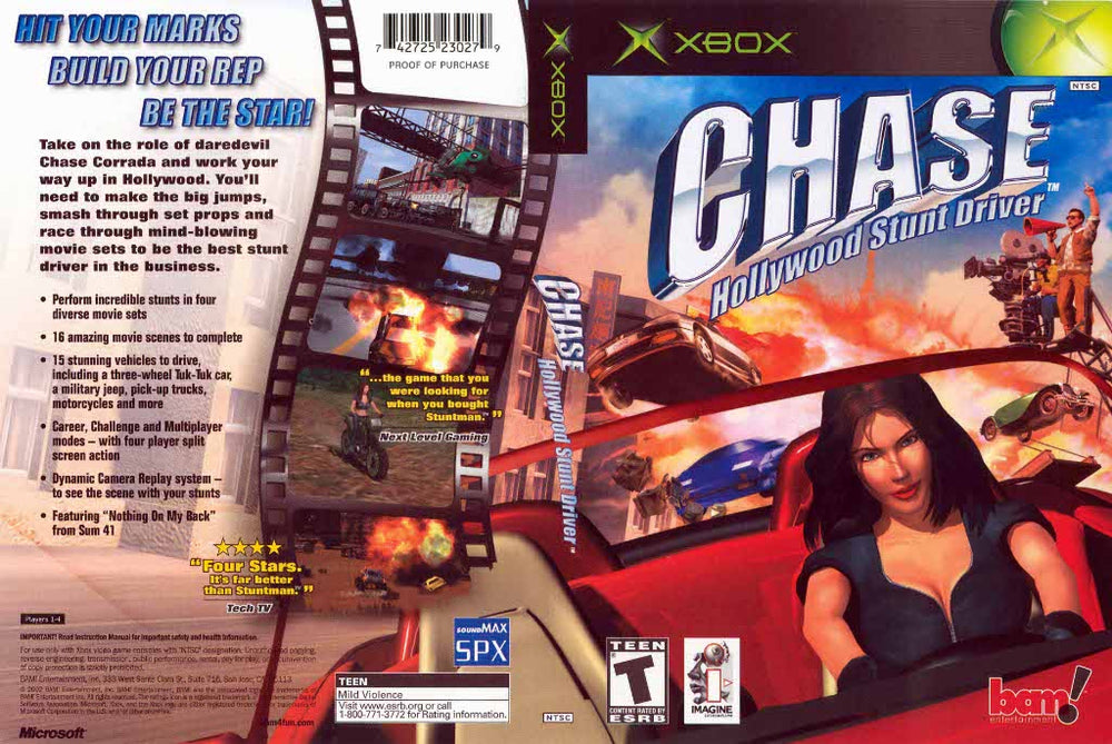 XBOX - Chase Hollywood Stunt Driver