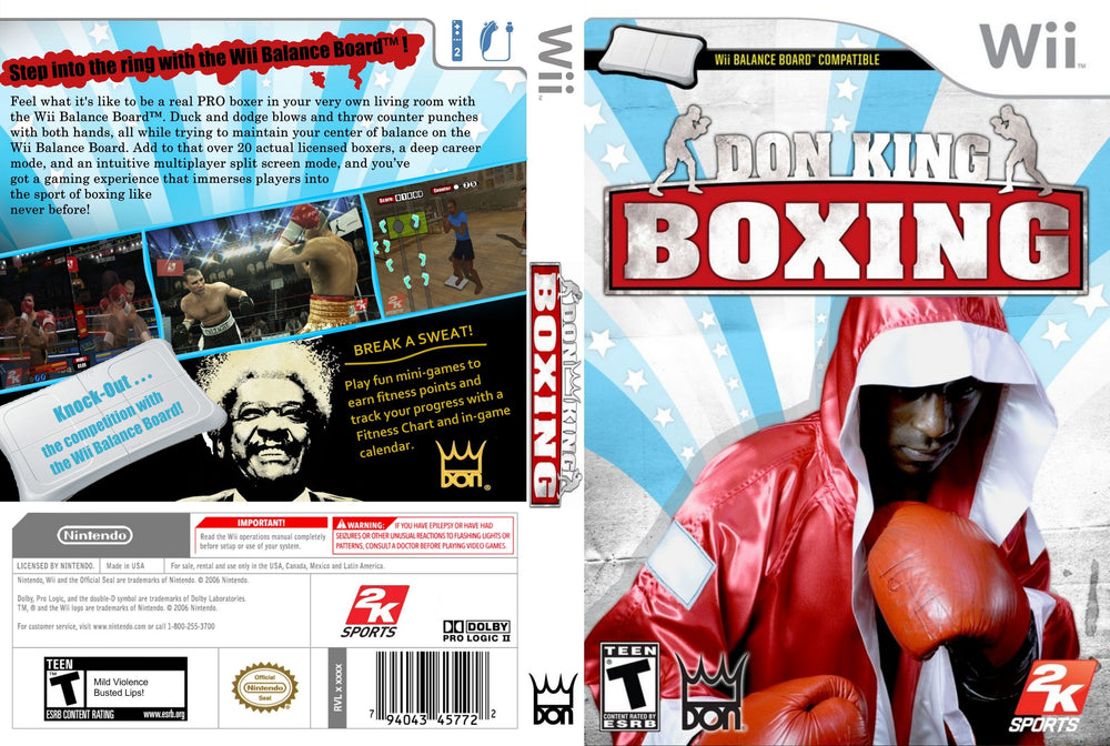 Wii - Don King Boxing
