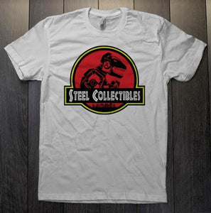 T-SHIRT - STEEL COLLECTIBLES - JP LOGO - WHITE