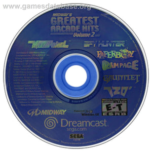 Dreamcast - Midway's Greatest Arcade Hits Volume 2