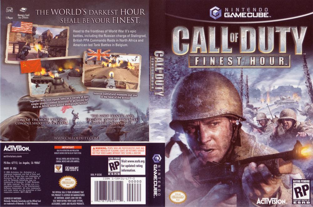 Gamecube - Call Of Duty Finest Hour