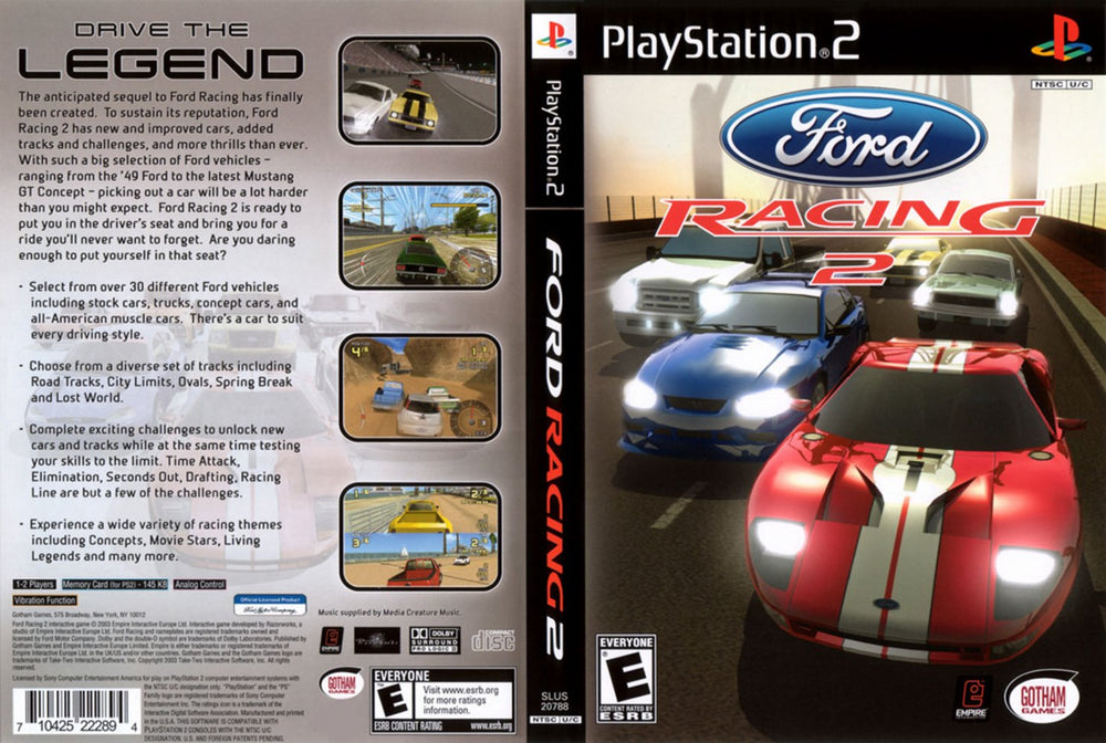 Playstation 2 - Ford Racing 2