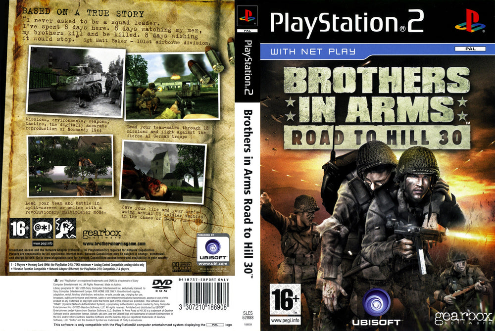 Playstation 2 - Brothers in Arms Road to Hill 30
