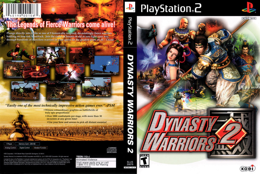 Playstation 2 - Dynasty Warriors 2