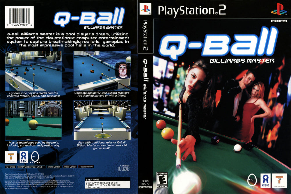 Playstation 2 - Qball Billiards Master