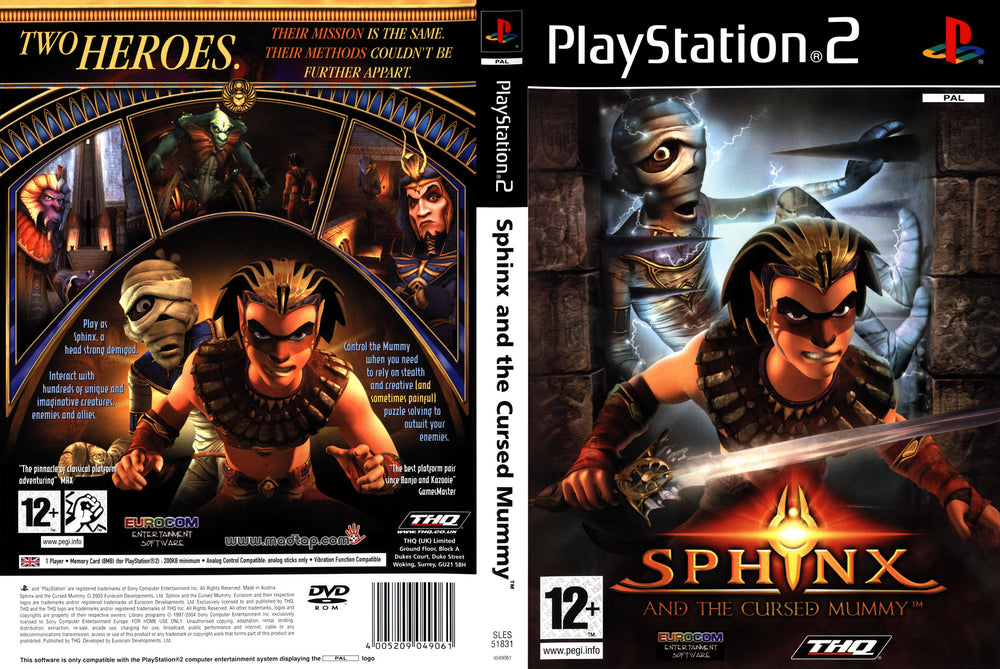 Playstation 2 - Sphinx And The Cursed Mummy