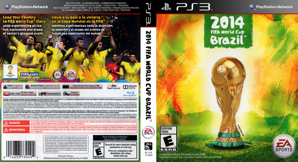 Playstation 3 - 2014 FIFA World Cup Brazil