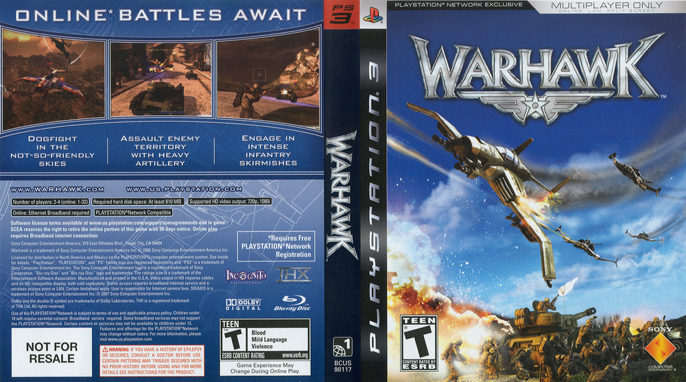 Playstation 3 - Warhawk