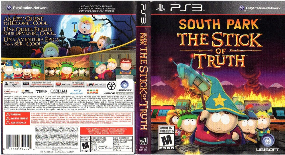 Playstation 3 - South Park The Stick of Truth