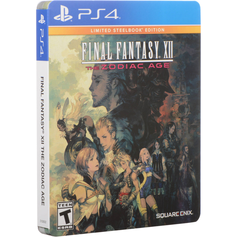 PS4 - Final Fantasy XII 12 The Zodiac Age Limited Steelbook Edition