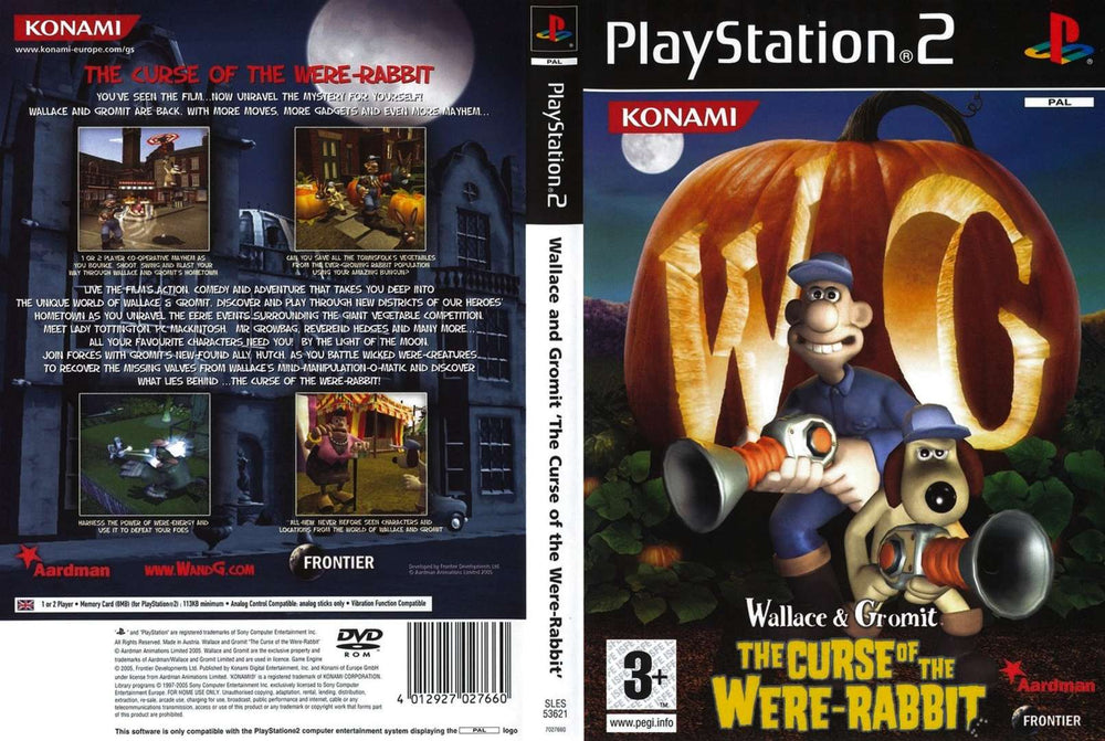 Playstation 2 - Wallace and Gromit Curse of the Were-Rabbit