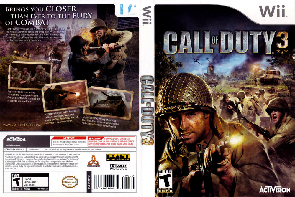 Wii - Call of Duty 3
