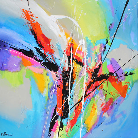 3rd movement 24x24 po/in Painting - Unique Abstract Art by Pierre Bellemare