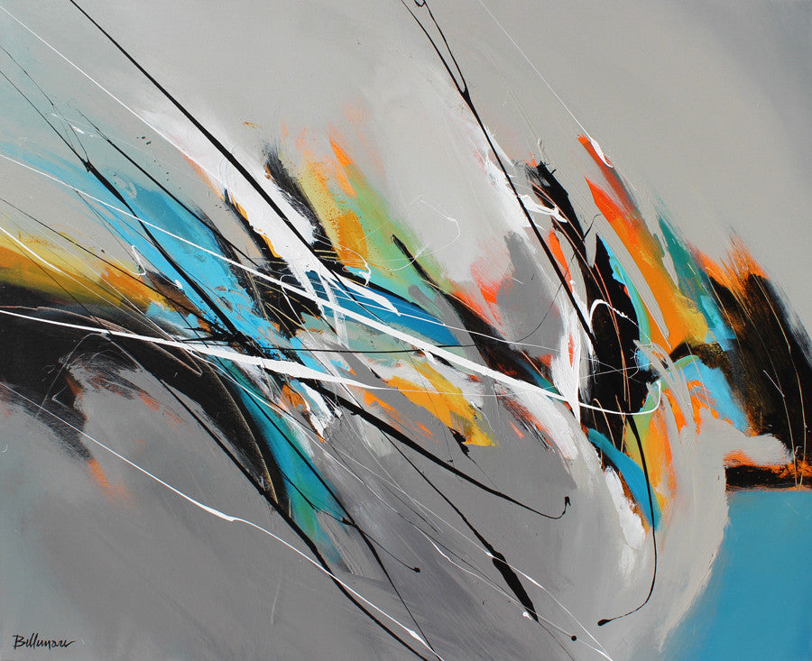 Acoustica 34x42 po/in Painting - Unique Abstract Art by Pierre Bellemare