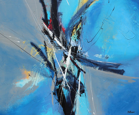 Aerial 42x36 po/in Painting - Unique Abstract Art by Pierre Bellemare