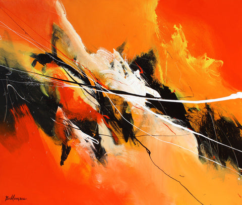 Arancio 30x36 po/in Painting - Unique Abstract Art by Pierre Bellemare