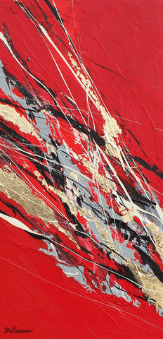 Asia 24x12 po/in Painting - Unique Abstract Art by Pierre Bellemare