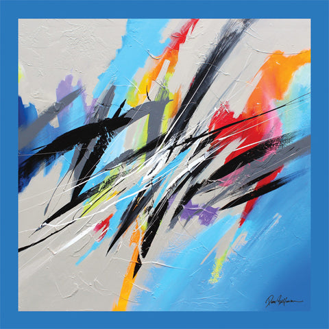 Blue Sky Painting - Unique Abstract Art by Pierre Bellemare